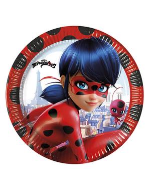 8 talířů Kouzelná Beruška (23 cm) - Miraculous Ladybug