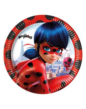 8 mariehøne tallerkner (20 cm) - Miraculous Ladybug