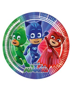 8 tallrikar PJ Masks Pyjamashjältarna (20 cm)
