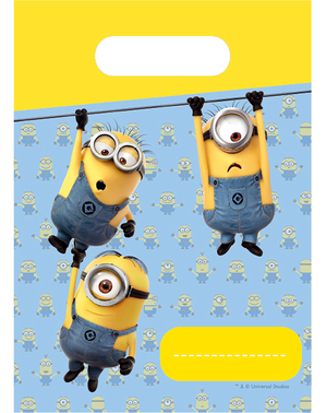 6 Minions Party Bags - Lovely Minions