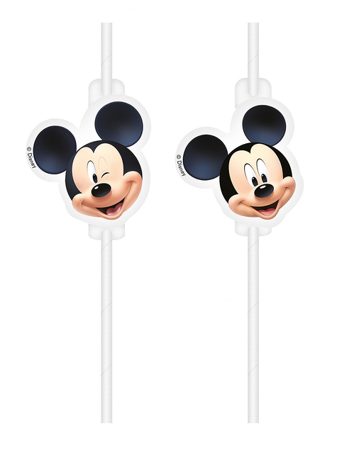 4 pajitas de Mickey Mouse - PLayful Mickey