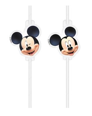 4 Mickey Mouse Sugerør - Playful Mickey