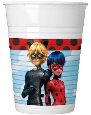 8 vasos de Ladybug - Miraculous Ladybug