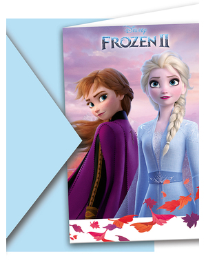 6 convites de Frozen 2