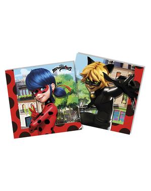 20 serviettes Ladybug (33x33 cm) - Miraculous : Les Aventures de Ladybug et Chat Noir
