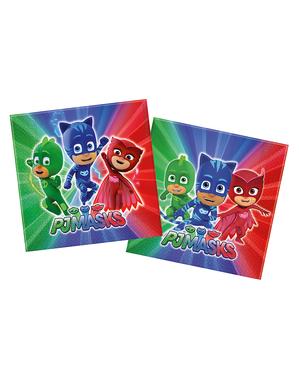 20 servetter PJ Masks Pyjamashjältarna (33x33 cm)