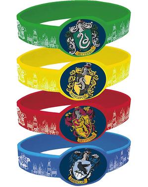 4 pulseiras Harry Potter casas de Hogwarts