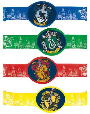 4 náramky Harry Potter Bradavické koleje