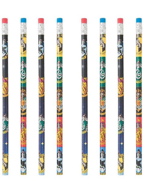 8 lápices de Harry Potter casas de Hogwarts