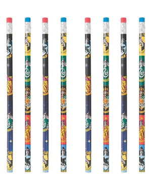 8 crayons Harry Potter maisons de Poudlard