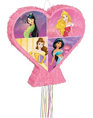 Pinhata de Princesas Disney forma de coração