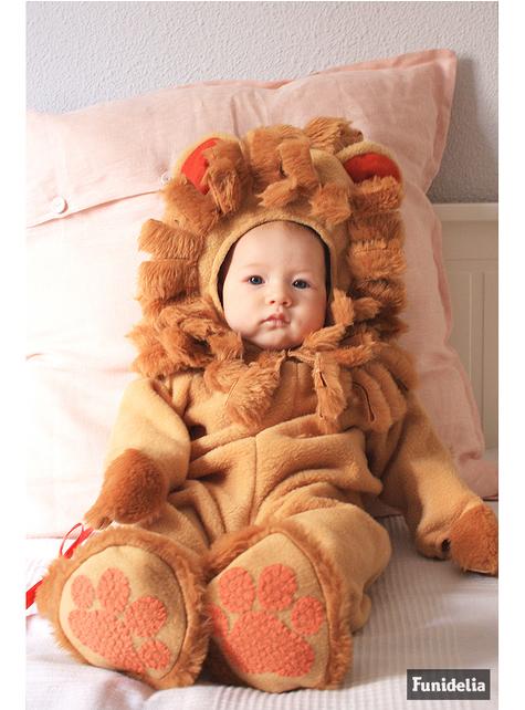 Maskeraddräkt brunt lejon för bebis