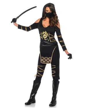 Fato de ninja sigilosa para mulher