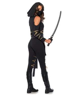 Geheimnisvolles Ninja Kostüm für Damen