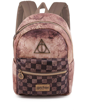 Bruine Harry Potter Deathly Hallows rugzak