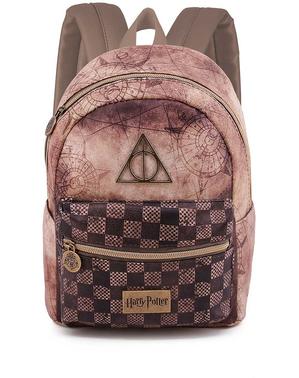 Mochila de Harry Potter e os Talismãs da Morte castanha