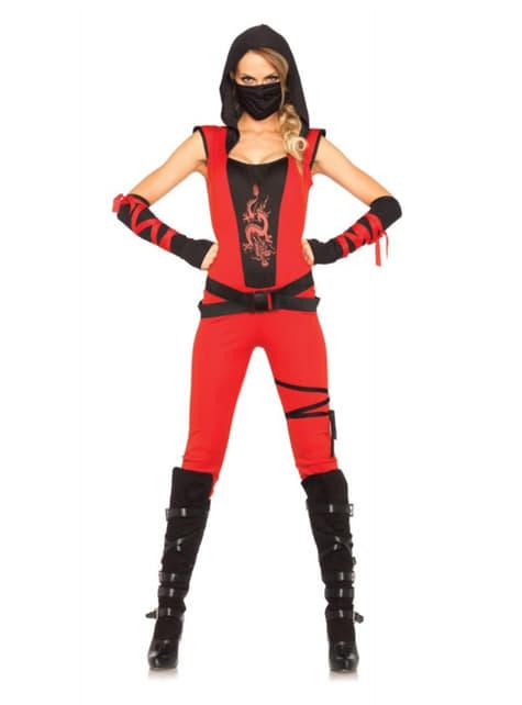 Ninja moordenaar kostuum voor vrouw