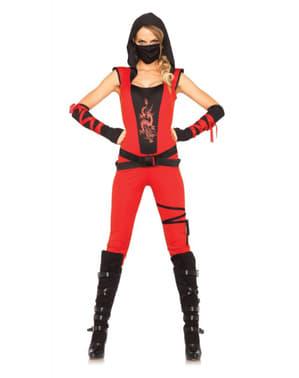 Snedig ninja kostume til kvinder
