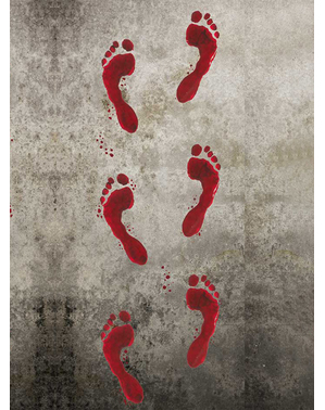 Nálepky halloweenské krvavé stopy
