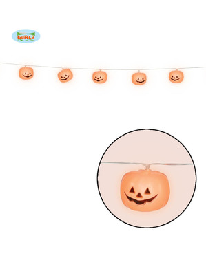 Light Up Pumpkin Garland
