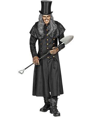 Disfraz de enterrador elegante para hombre