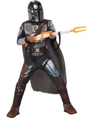 Fato The Mandalorian Star Wars para menino