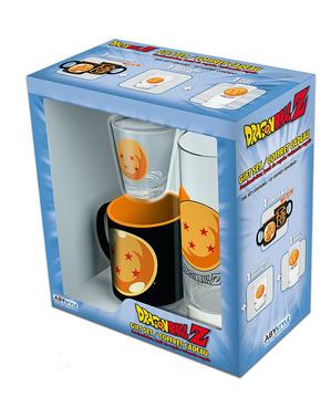Confezione regalo Dragon Ball: bicchiere, tazza, bicchiere per chupito