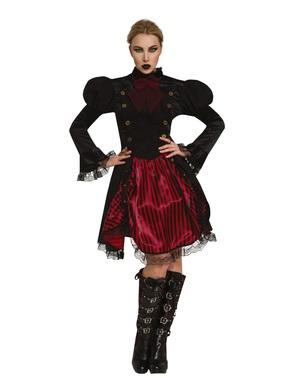 Fato Steampunk gótico para mulher