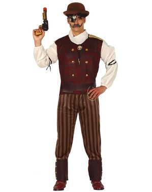 Steampunk Kostüm oxidiert für Herren