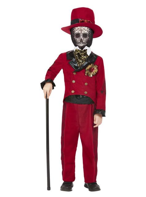 Disfraz Día de los muertos novio para niño