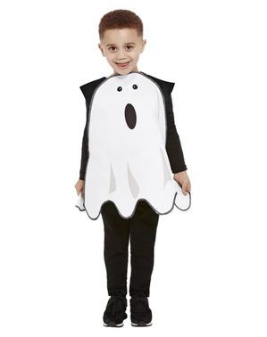 Fato de fantasma assustado infantil