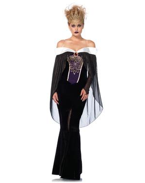 Donkere koningin kostuum voor vrouw