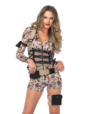 Woman's Sexy Battle Soldier Costume