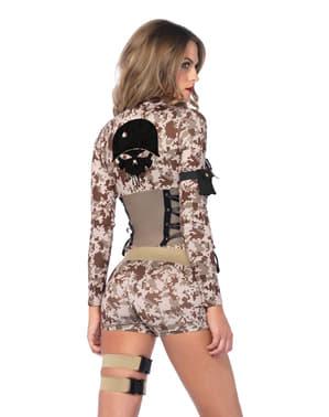 Kostium żołnierz z bitwy sexy damski
