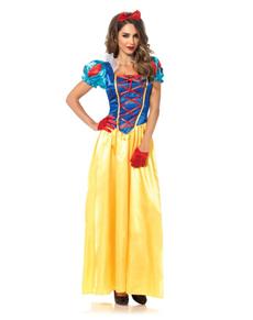 Klassisk Snøhvit Kostyme for Dame