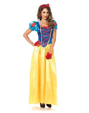 女性の古典的な白雪姫の衣装