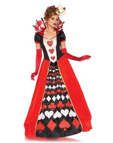 Disfraz de reina de corazones elegante para mujer