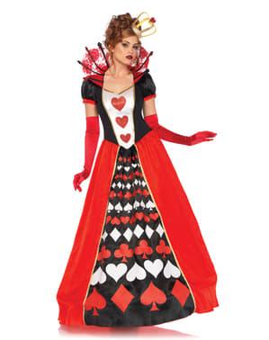 Elegante harten koningin kostuum voor vrouw