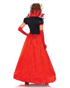 Costum regina de inimă roșie elegant pentru femeie