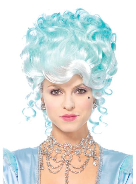 Peluca barroca azul para mujer