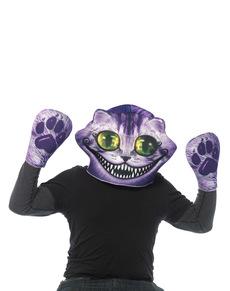 Mask med handskar Katten i Alice i Underlandet för vuxen