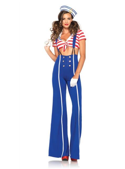 Disfraz de marinera USA para mujer