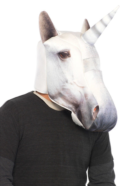 Máscara acolchada de unicornio para adulto
