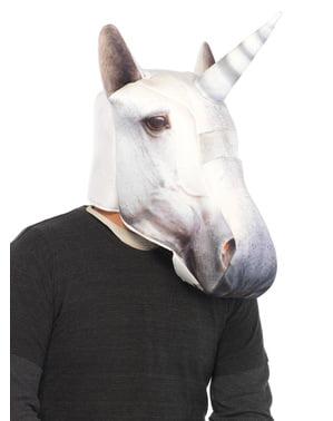 Maschera imbottita da unicorno per adulto