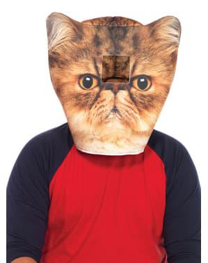 Възглавницата с котешка маска