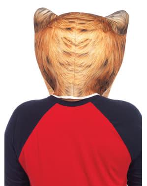 Gewatteerde kat masker voor volwassenen