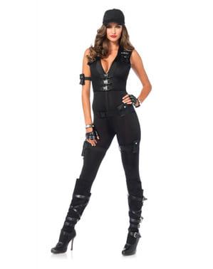 Disfraz de comandante SWAT para mujer
