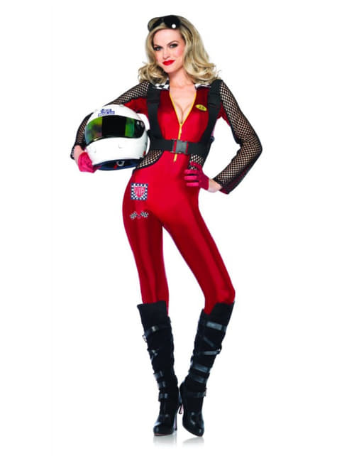 Woman's Sexy Race Car Driver Costume