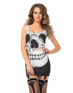 Glimlachende doodshoofd jurk voor vrouwen