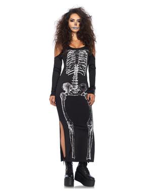 Fato de esqueleto provocativo para mulher